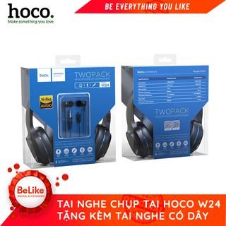 Tai Nghe Chụp Tai Có Dây Hoco W24- Tặng kèm tai nghe nhét tai - Hàng Chính Hãng BH 12 tháng