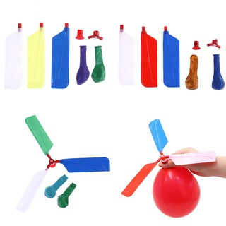 [BUDD&vn] 10pcs balls balloons helicopter flying with whistle kids outdoor play toy