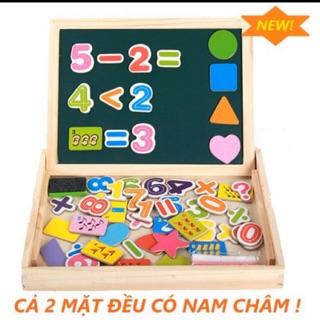 Đồ chơi thông minh, bộ toán học đếm số, hình học nam châm cho bé