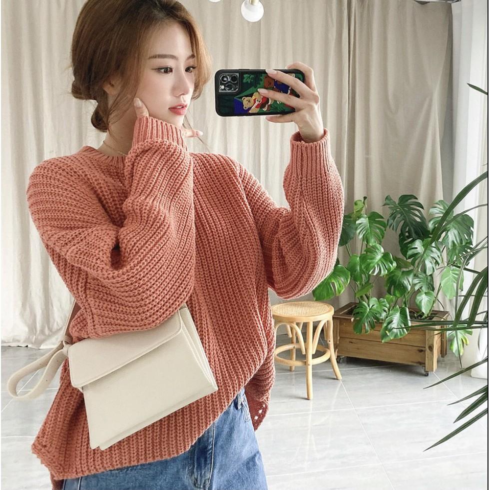 Áo len nữ chất dày, dáng rộng hàng đẹp AL08