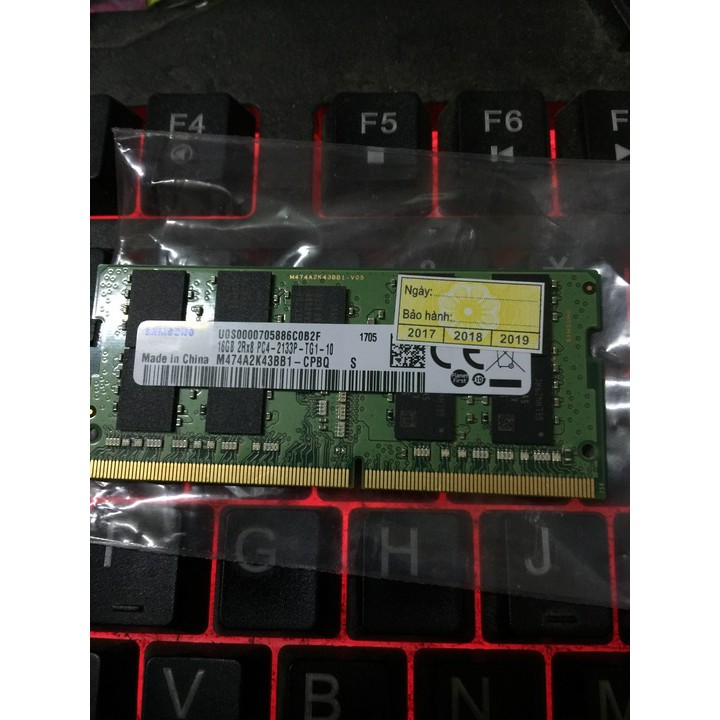 Ram Laptop Samsung DDR4 16G PC4-2133P 2133 Mhz