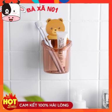 Cốc dán tường nhà tắm chú gấu dễ thương