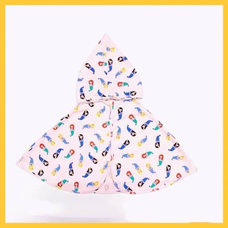 (Được lựa mẫu) Áo Choàng Chống Nắng Cho Bé, Áo Cánh Dơi Họa Tiết Đáng Yêu, Chất Liệu Cotton cho bé
