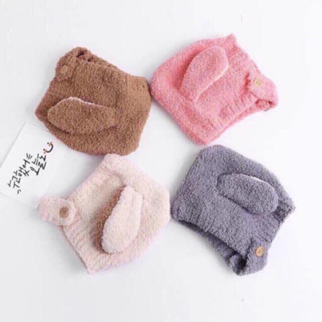Mũ trùm đầu tai cừu cho bé cực xinh cực ấm hàng đẹp