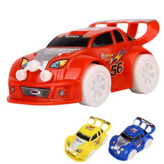 Kid Toy Christmas Steering Flashing Light Music Racing Car Electric Toy