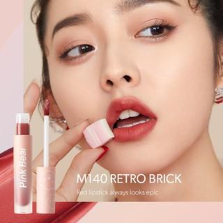 Son Kem Pink Bear Butter Cream Tint Velvet Matte Lip Long-lasting Hydrating High coverage 8 Shades 2.5g 4