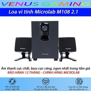 Loa vi tính Microlab M108 2.1 - Màu đen - Cam Kết Chính hãng - BH 12 tháng thumbnail