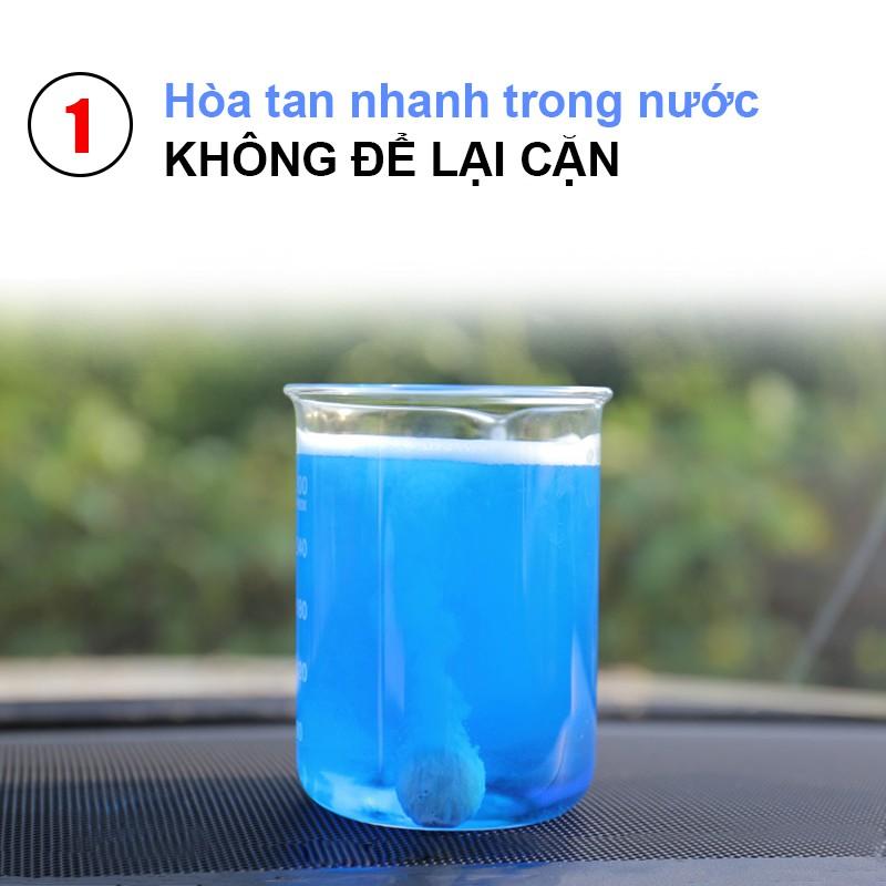Viên sủi rửa kính xe hơi, ô tô, vệ sinh bề mặt, làm sạch nhanh, dễ hòa tan, tiết kiệm