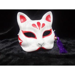 Mặt nạ cáo nửa mặt đã vẽ, halloween , cosplay | botmau0654