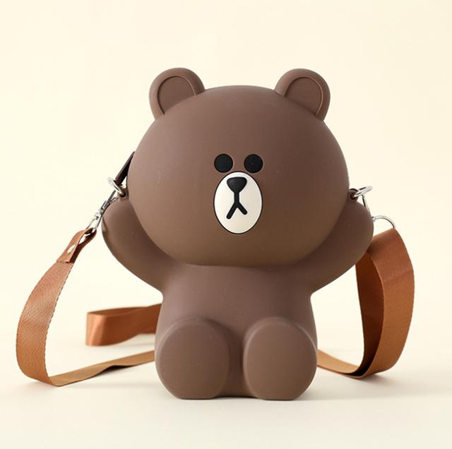 Túi gấu silicon loại to