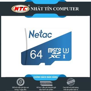 [Mã ELFLASH5 giảm 20K đơn 50K] Thẻ nhớ microSDXC Netac Extreme 64GB U3 4K 100MB/s (Trắng xanh)