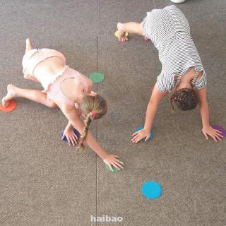 6 Colors Children Game Floor Kindergarten Round Sports Durable Nylon Educational Classroom Spot Markers