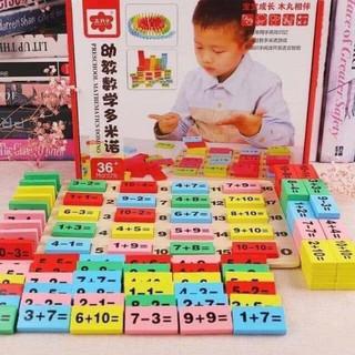 Bộ đồ chơi domino toán học