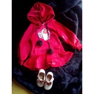 váy đỏ bé gái