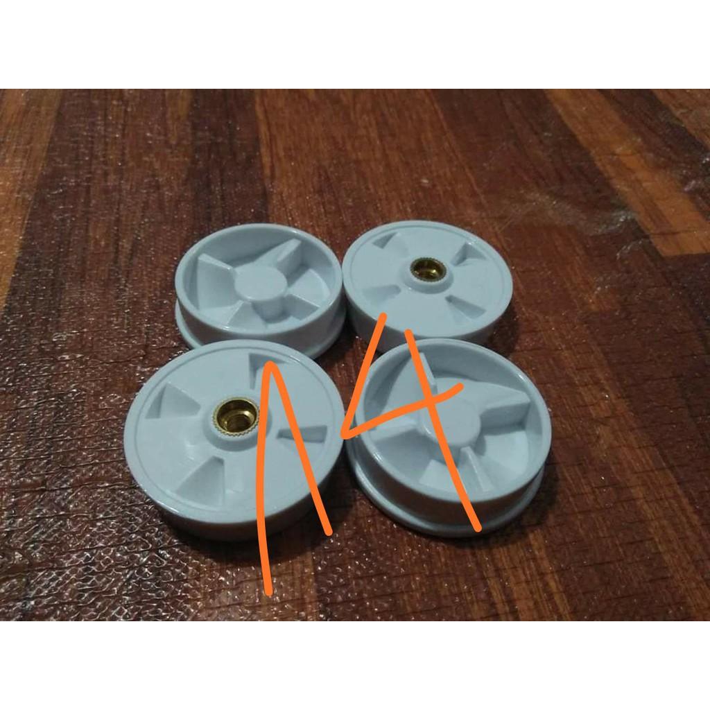 Combo vấu gắn cối xay + vấu gắn động cơ máy xay sinh tố ( 4 răng màu trắng) đục như hình cho máy magic