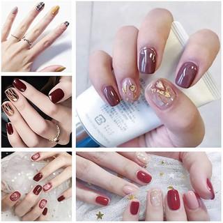 Bộ dán móng tay nail sticker gồm 14 móng, không thấm nước, độ đàn hồi tốt DA161-DA180 thumbnail