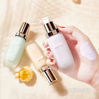 NOVO Isolation Cream Makeup Primer Whitening Oil Control Concealing Invisible Pore Primer Cream Nude Makeup Liquid Foundation