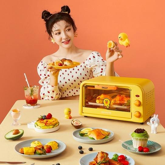 Lò Nướng Bánh Điện Joyoung Mini Dung Tích 10L Nhỏ Gọn Đa Năng Màu Vịt Vàng Sally Thỏ Hồng Cony