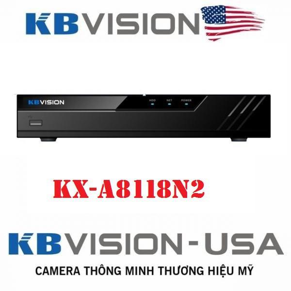 Đầu ghi hình camera IP 8 kênh KBVISION KX-A8118N2 - Hàng chĩnh hãng bảo hành 2 năm