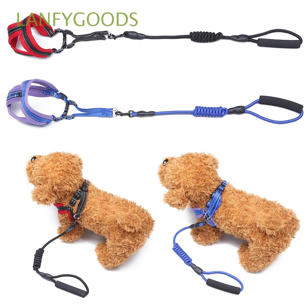 LANFYGOODS Breathable Nylon Leash Soft Mesh Adjustable  Pet Traction Rope