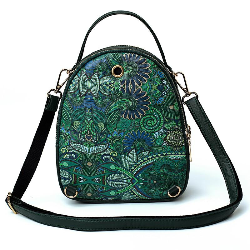 Balo mini cô gái rừng xanh (tặng ví cùng loại) - T613