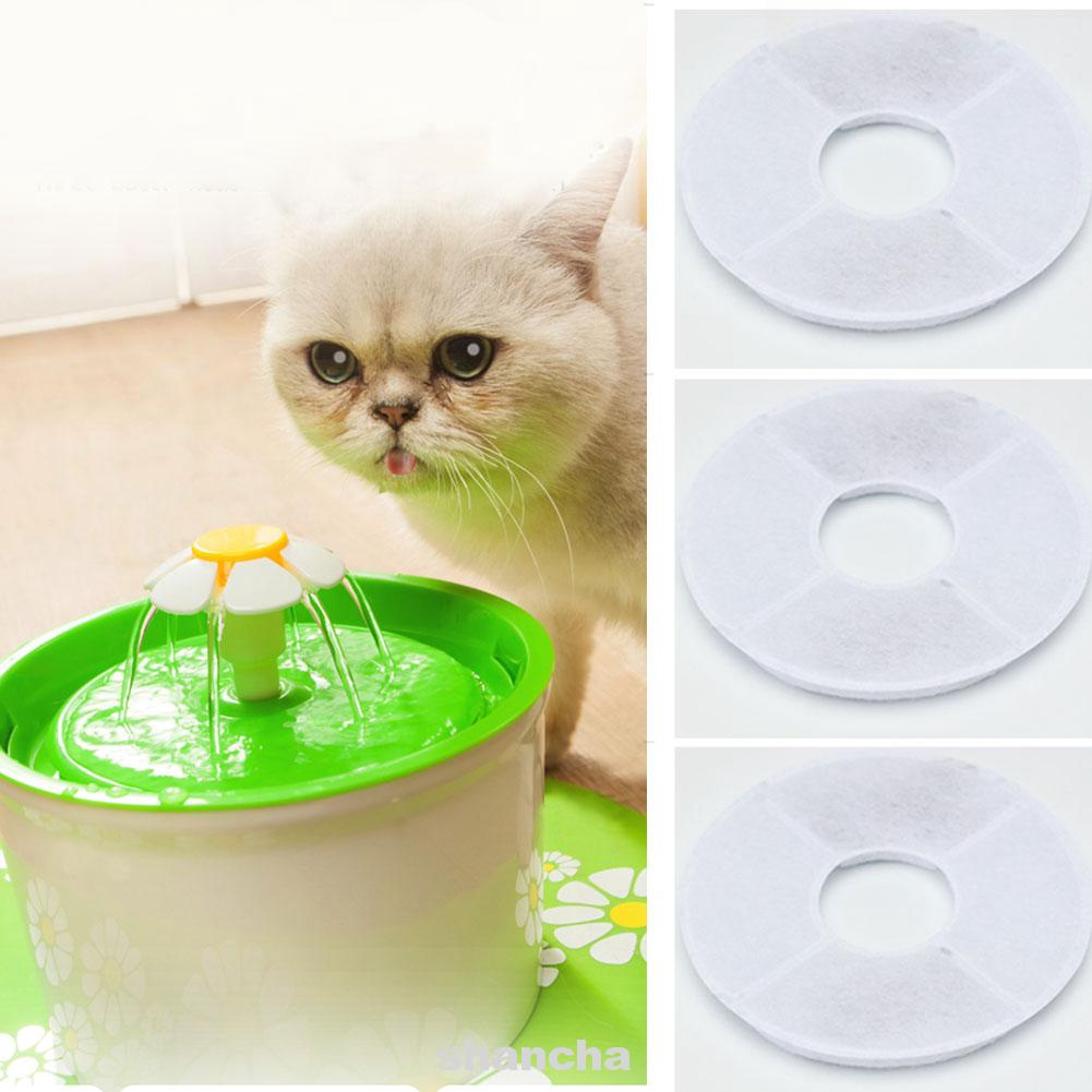 4pcs Filter Cotton Deodorization For Pets' Drinking Purification Tools Replacement Water Dispenser