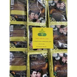 Combo 10 gói Dầu Gội Nhuộm Đen Tóc Black Hair Shampoo của Hàn Quốc thumbnail
