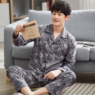 bộ đồ ngủ pijama in chữ thoải mái cho nam