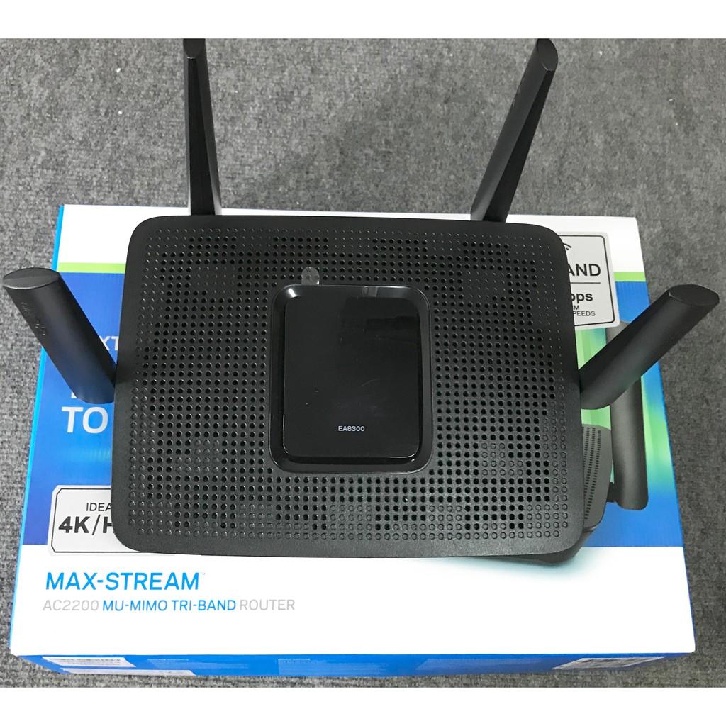 Bộ định tuyến Linksys EA8300 Max-Stream AC2200 Tri-Band WiFi Router Giá chỉ 3.200.000₫