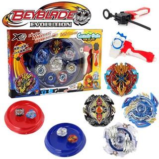 4 con quay Beyblade kèm bệ phóng bằng kim loại cho trẻ