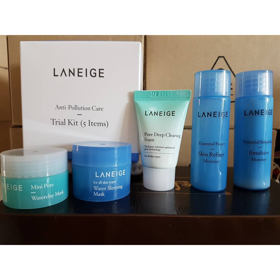 Bộ dưỡng da Laneige Anti Pollution Care Trial Kit 5 sản phẩm