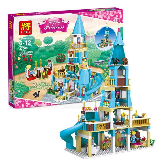 Bộ Lego xếp hình Lâu đài Nữ hoàng băng giá Elsa Anna - 561 chi tiết