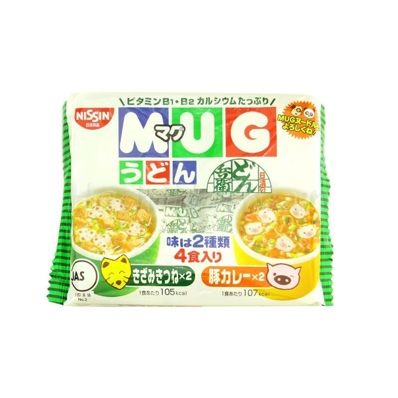 Mì Udon ăn liền Mug Nissin cho bé 2 vị (4 gói)