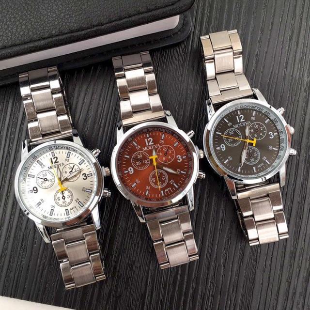 Đồng hồ Bamezo đồng hồ cơ nam đeo tay cao cấp dây kim loại DH103