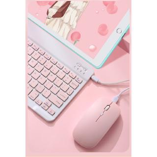 Hình ảnh GOOJODOQ Bộ bàn phím + chuột máy tính không dây bluetooth nhiều màu sắc nhỏ gọn cho iPhone/ iPad (có bán lẻ bàn phím)-3