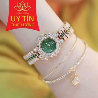 Đồng hồ nữ Bee Sister Korea viền đá xoay + tặng lắc tay cao cấp và pin cao cấp thumbnail