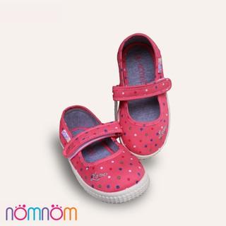 Giày bé gái siêu mềm NomNom EPG1844 chấm bi cam