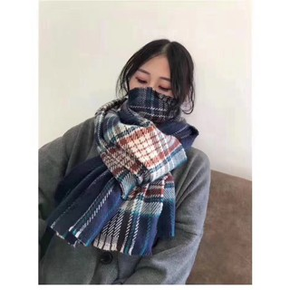 Letter new autumn and winter color plaid imitation cashmere shawl couple thick warm scarf men and women