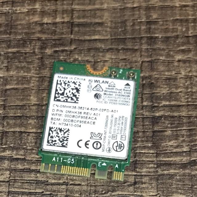 Card wifi laptop dell inspiron 15 7559 Intel 3165 3165NGW 3165AC Dual Band  Wireless AC + Bluetooth4 0