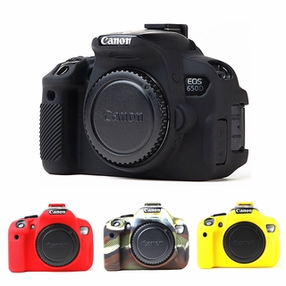 For Canon EOS 650D 700D 600D soft Silicone Armor Skin Case Body Cover Protector Camera bag