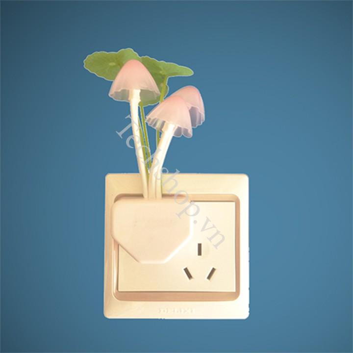 Đèn ngủ thông minh hình cây nấm - đèn ngủ sáng tắt tự động - tiện lợi