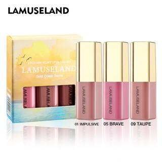 LAMUSELAND Gold Coast Series Velvet Moisturizing Lip Gloss LA0006 3pcs set thumbnail