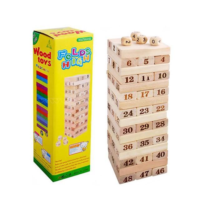Bộ đồ chơi rút gỗ 48 thanh to | TẠI BA ĐÌNH