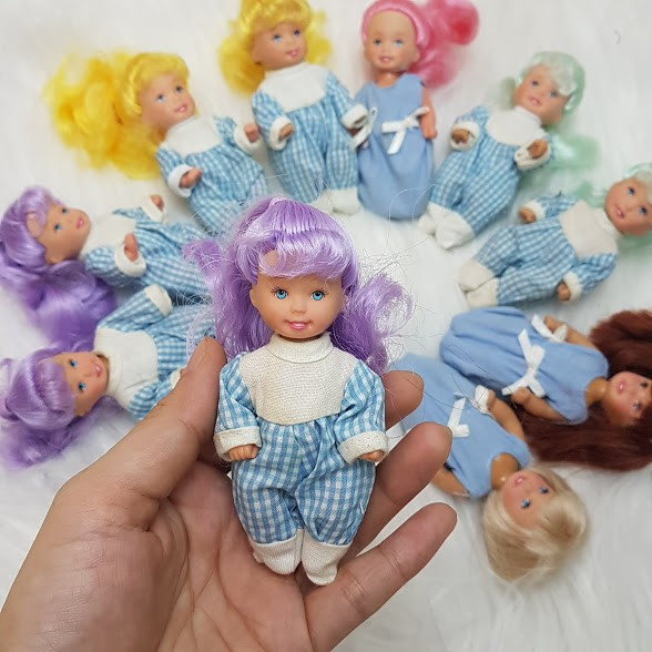 Thanh lý Búp bê Little Doll Kelly chính hãng Simba 11 cm (thân nhựa-quần áo ngẫu nhiên)