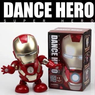 Đồ chơi rô bốt Iron man nhảy múa hàng loại 1 mở được mặt nạ