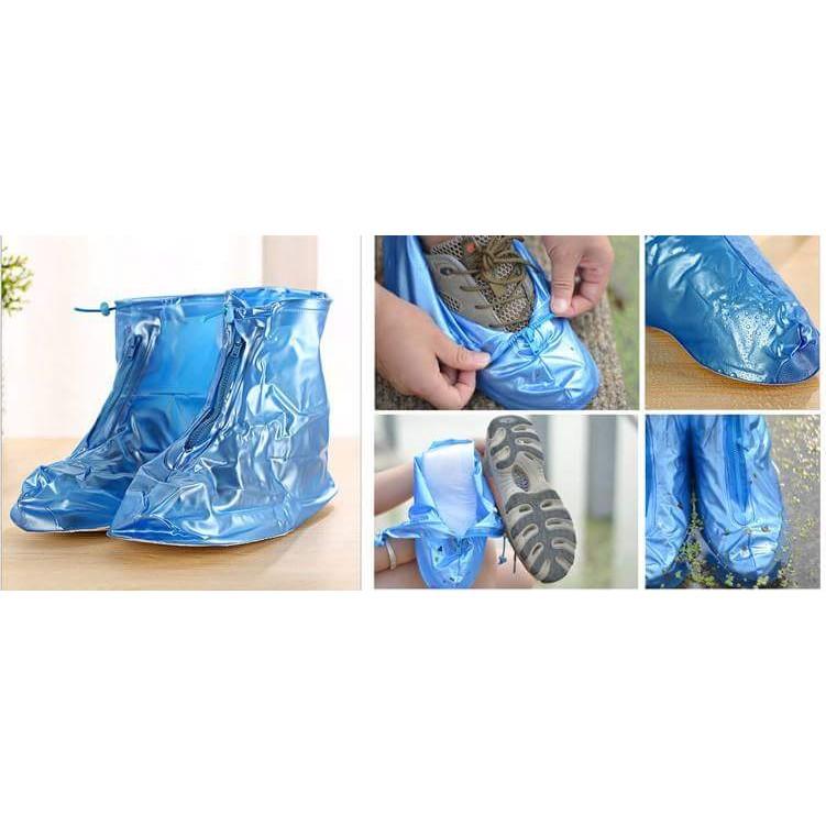 Ủng đi mưa cổ ngắn bảo vệ giày dép sạch sẽ không bị mưa bẩn