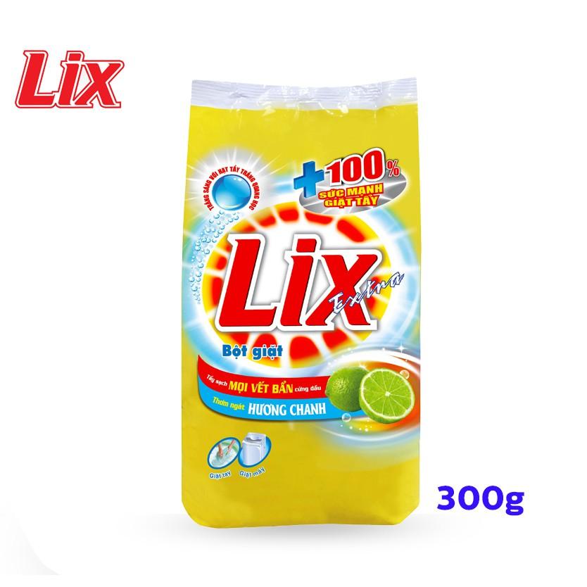 Bột Giặt LIX Extra Hương Chanh 300G EC300 - Tẩy Sạch Vết Bẩn Cực Mạnh