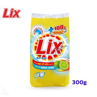 Hình ảnh Bột Giặt LIX Extra Hương Chanh 300G EC300 - Tẩy Sạch Vết Bẩn Cực Mạnh-0