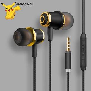 all} 3.5MM Tai nghe có dây Mạ điện Bass Stereo Tai nghe trong tai có Mic Tai nghe gọi điện thoại Hansfree dành cho Android iOS
