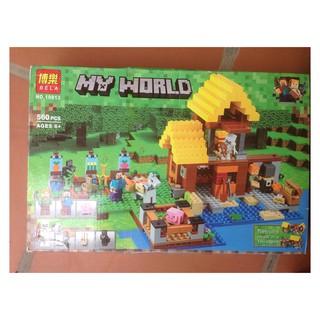 Bộ xếp hình Bela 10813 Nông trại Minecraft